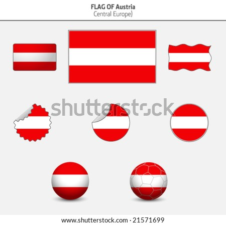 Flag of Austria - stock vector