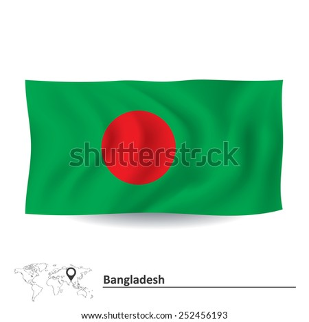 Flag of Bangladesh - vector illustration - stock vector
