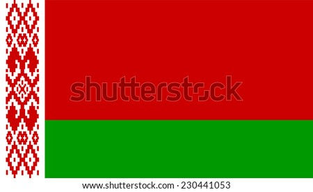 Flag of Belarus. Vector. Accurate dimensions, elements proportions and colors. Original and simple Belarus flag isolated vector in official colors and Proportion Correctly.  - stock vector