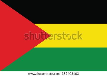 Flag of Benishangul Gumuz ethnically based regional state of Ethiopia. Vector illustration. - stock vector