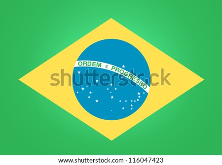 Flag of Brasil - stock vector