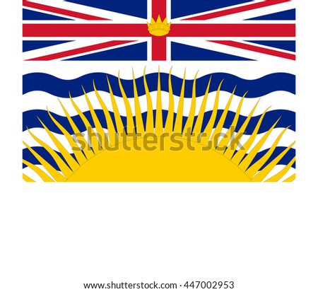 Flag of British Columbia Province or territory of Canada. Vector illustration. - stock vector