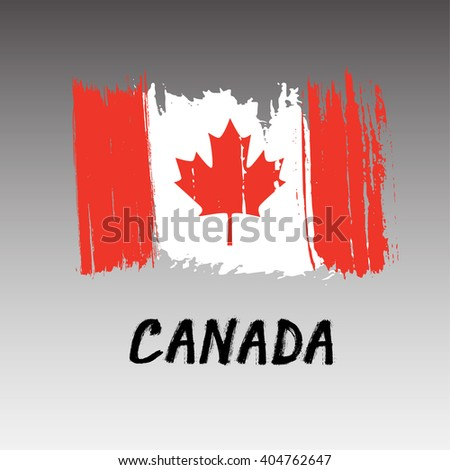 Flag Of Canada  - Grunge - stock vector