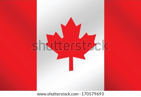 flag of Canada  themes idea design - stock vector