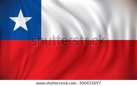 Flag of Chile - vector illustration - stock vector