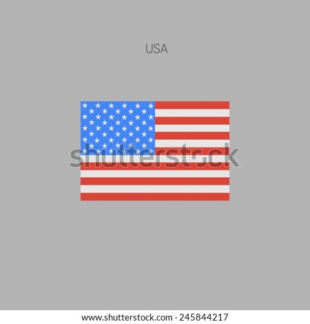 Flag of country in flat design 2015 USA - stock vector