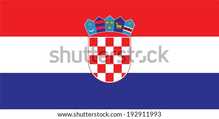 Flag of Croatia. Vector. Accurate dimensions, element proportions and colors. - stock vector
