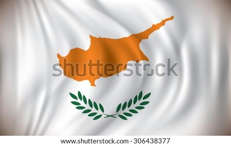 Flag of Cyprus - vector illustration - stock vector