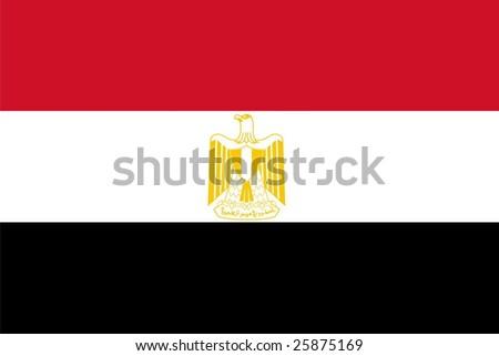 Flag of Egypt. Illustration over white background - stock vector