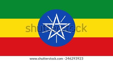 Flag of Ethiopia - stock vector