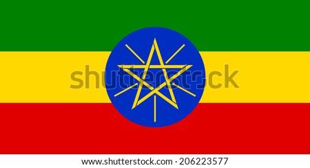 Flag of Ethiopia. Vector illustration. - stock vector