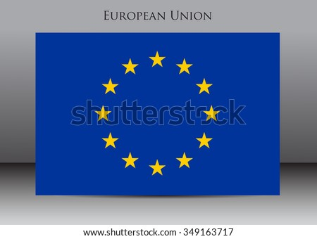 Flag of EU.European Union vector illustration. - stock vector