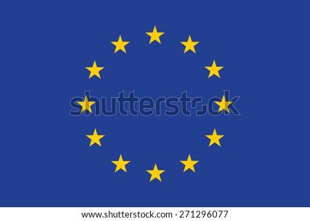 Flag of European. Vector illustration. - stock vector