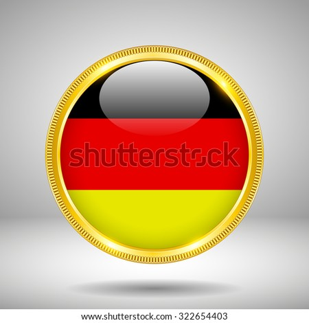 Flag of Germany in GOLD - stock vector