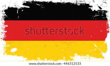 Flag of Germany in the ancient. - stock vector