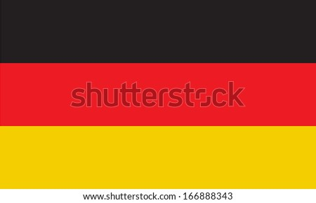 Flag of Germany. Vector. Accurate dimensions, element proportions and colors. - stock vector