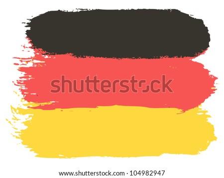 Flag of Germany, vector illustration - stock vector