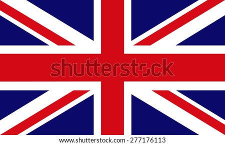 Flag of Great Britain. Vector. - stock vector