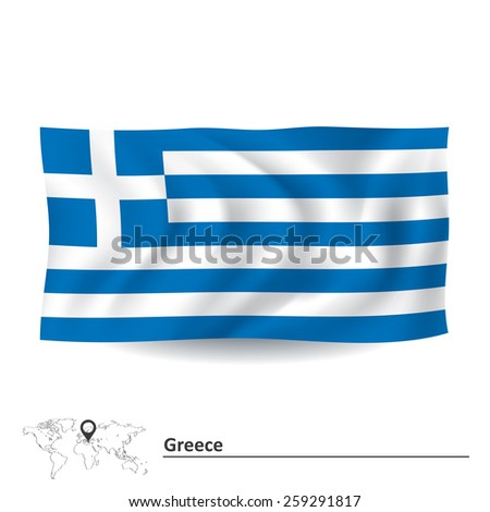Flag of Greece - vector illustration - stock vector