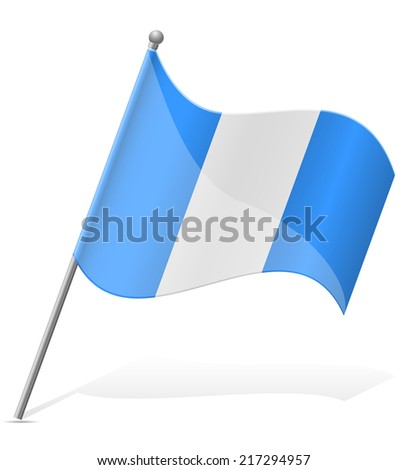 flag of Guatemala vector illustration isolated on white background - stock vector