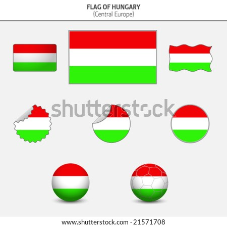 Flag of Hungary - stock vector