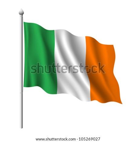 Flag of Ireland, vector illustration - stock vector