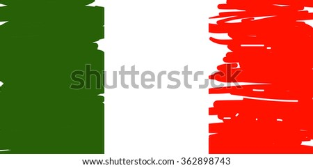 Flag of Italy, vector illustration - stock vector