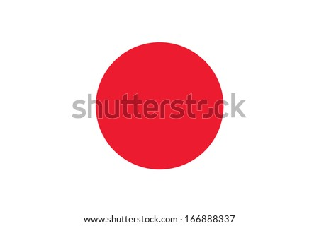Flag of Japan. Vector. Accurate dimensions, element proportions and colors. - stock vector