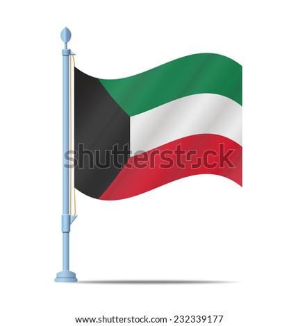 Flag of Kuwait vector illustration - stock vector