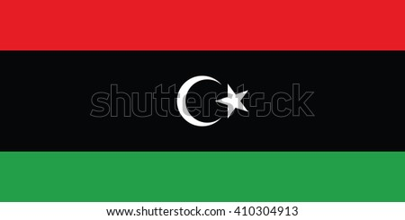Flag of Libya - Proper Dimensions. Vector illustration - stock vector