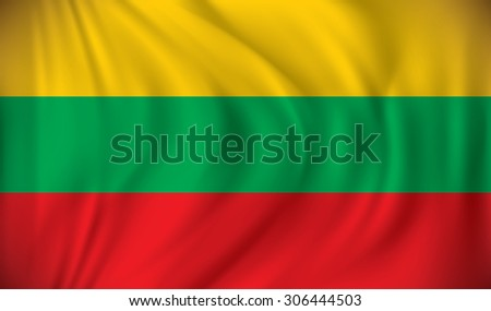 Flag of Lithuania - vector illustration - stock vector