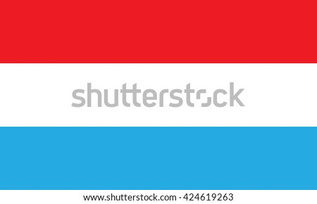 Flag of Luxembourg - stock vector