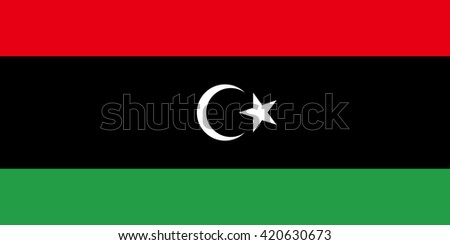 Flag of Lybia - stock vector