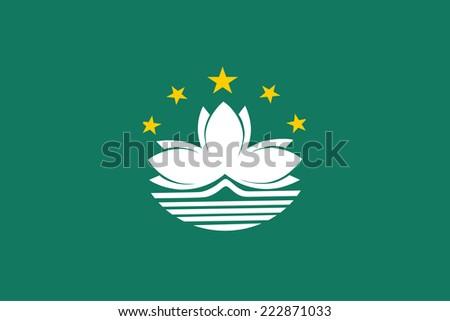 Flag of Macau. Vector. - stock vector