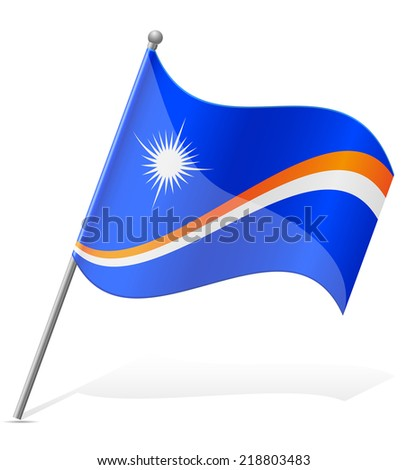 flag of Marshall Islands vector illustration isolated on white background - stock vector