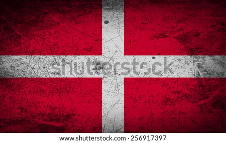 Flag of Military Order Malta with old texture. Vector illustration - stock vector