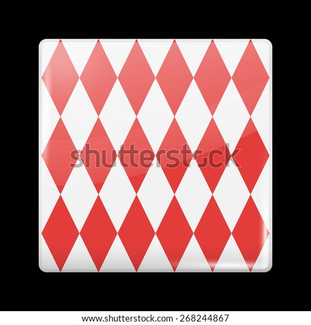 Flag of Monaco. Glossy Icons Square Shape. This is File from the Collection European Flags - stock vector