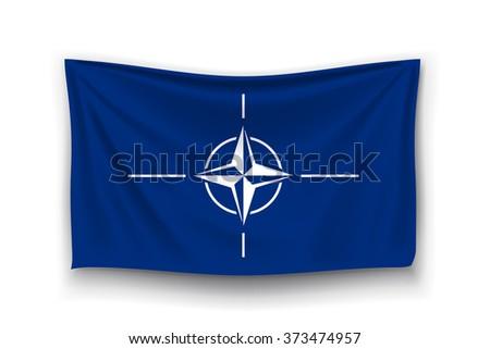flag of NATO - stock vector