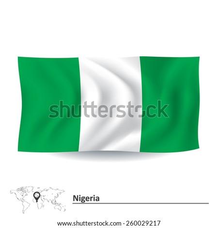 Flag of Nigeria - vector illustration - stock vector