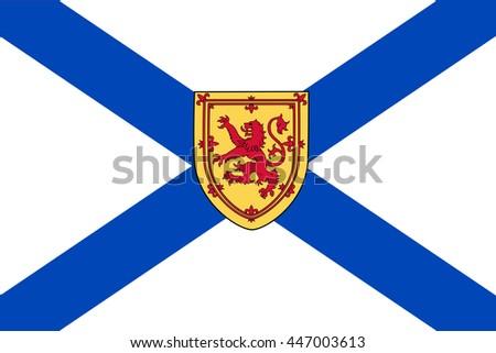 Flag of Nova Scotia Province or territory of Canada. Vector illustration. - stock vector