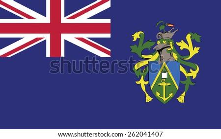 flag of Pitcairn Islands. Vector illustration. - stock vector