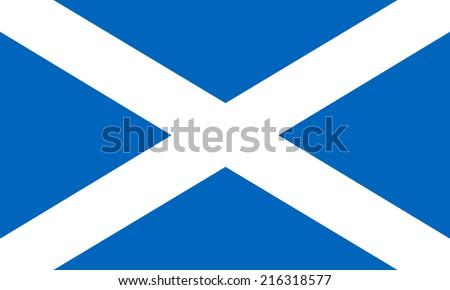 Flag of Scotland illustration - stock vector