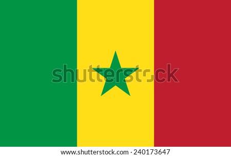 flag of Senegal - stock vector
