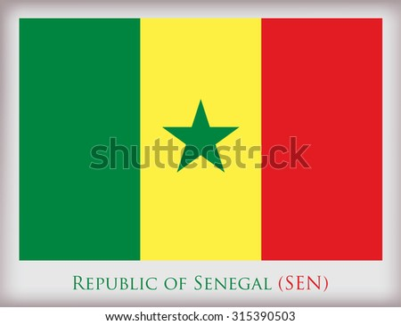 Flag of Senegal.Senegal flag vector illustration. - stock vector