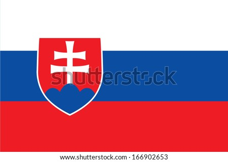 Flag of Slovakia. Vector. Accurate dimensions, element proportions and colors. - stock vector