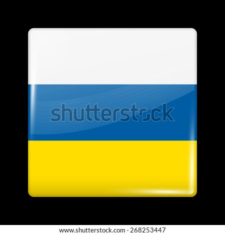 Flag of Slovenia. Glossy Icons Square Shape. This is File from the Collection European Flags - stock vector
