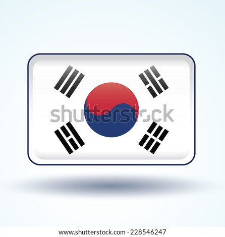 Flag of South korea, vector illustration - stock vector