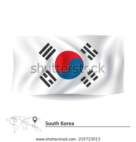 Flag of South Korea - vector illustration - stock vector