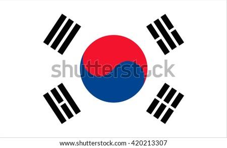 Flag of South Korea vector image - stock vector