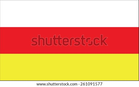 Flag of South Ossetia. Vector illustration. - stock vector